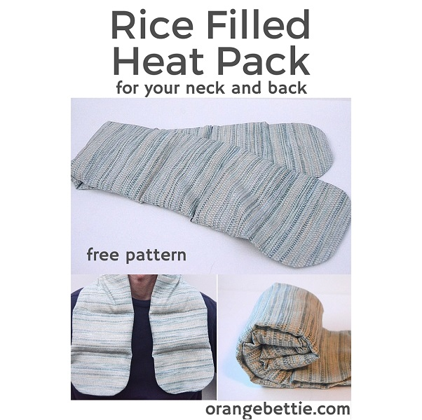 Free Pattern Rice Filled Heat Pack For Your Neck And Back