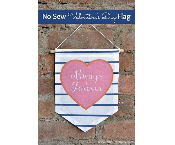 Tutorial: No-sew Valentine banner