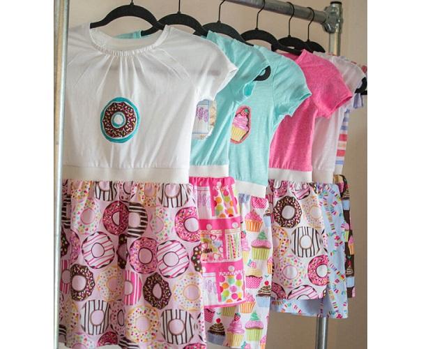 Tutorial: Boutique t-shirt dresses for little girls