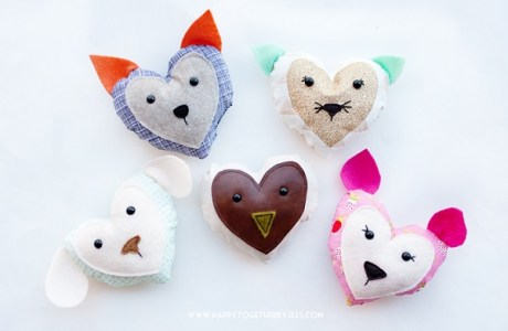 Free pattern: Valentine's heart animals