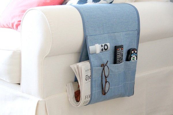 Tutorial Remote Control Organizer Caddy Sewing