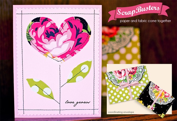 Tutorial: Use scrap fabrics to make gorgeous greeting cards