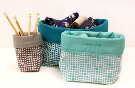 Video tutorial: Squared fabric bins