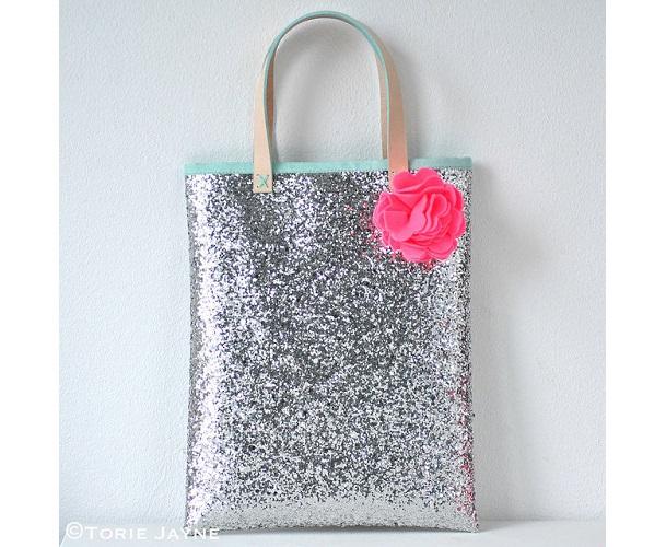 Tutorial: Glitter book bag