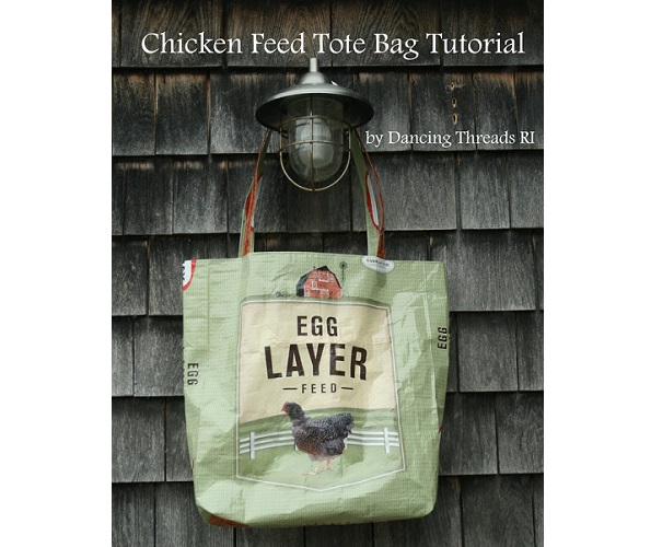 Tutorial: Recycled chicken feed tote bag