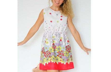 Tutorial: Easy summer A-line dress