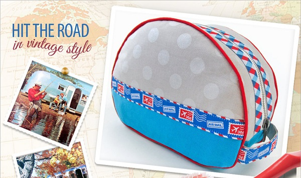 Free pattern: Retro camper inspired toiletry bag