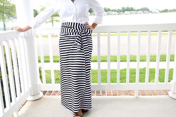 Tutorial: Wrap maxi skirt