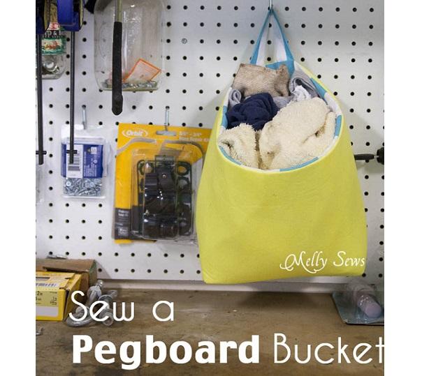 Tutorial: Pegboard rag bucket to organize your workbench