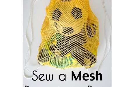 Tutorial: Mesh drawstring soccer bag