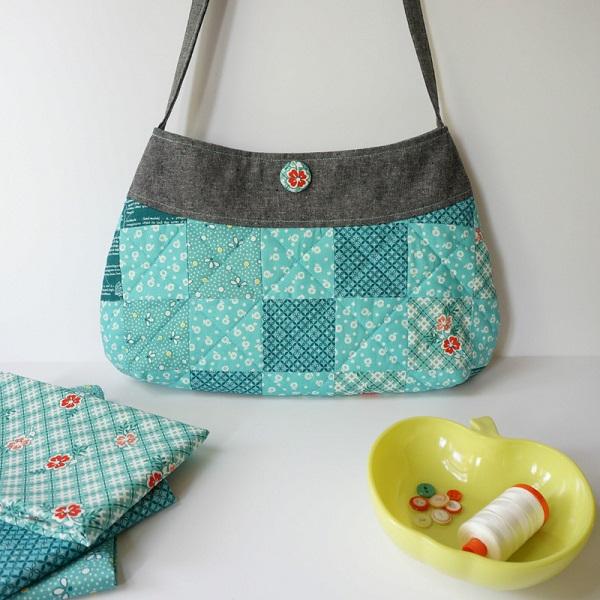 Free Pattern Springtime Patchwork Purse Sewing