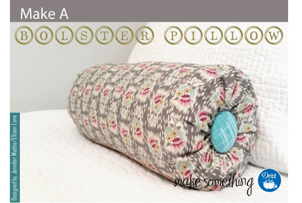 Tutorial: Covered button bolster pillow