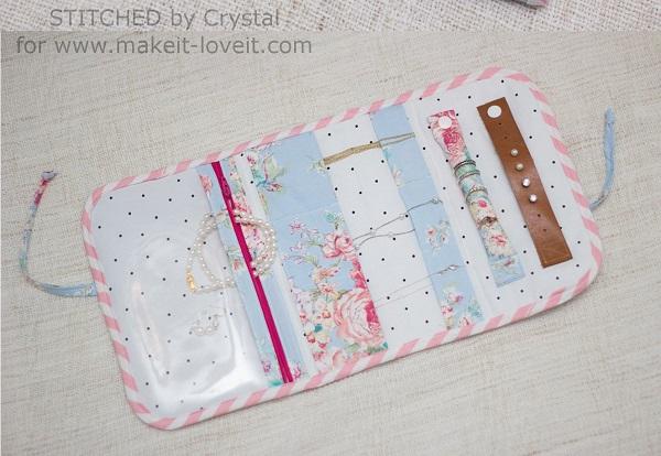 tutorial travel jewelry clutch organizer � sewing