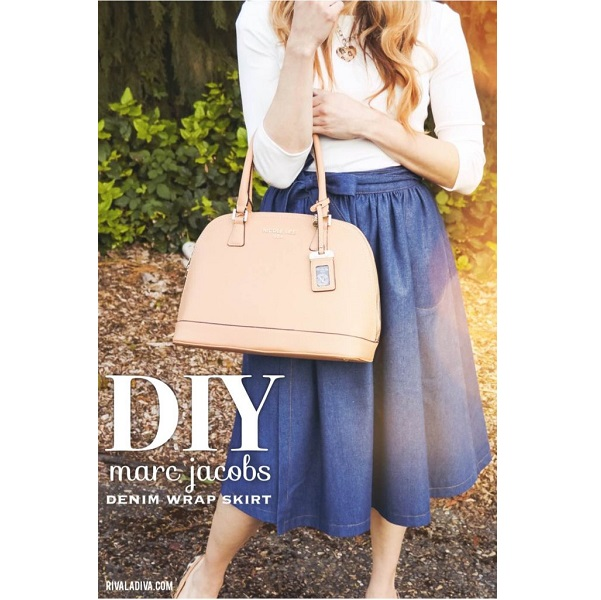 Tutorial: DIY designer inspired denim wrap skirt