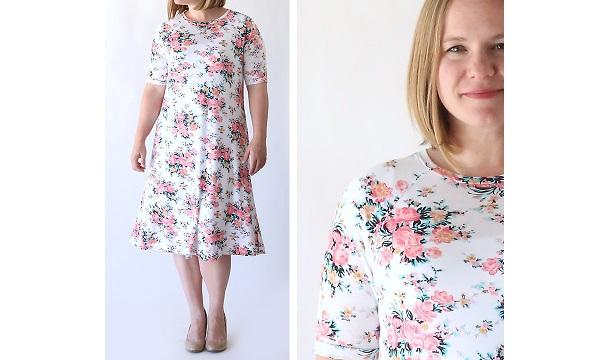 Free pattern: Easy swing dress