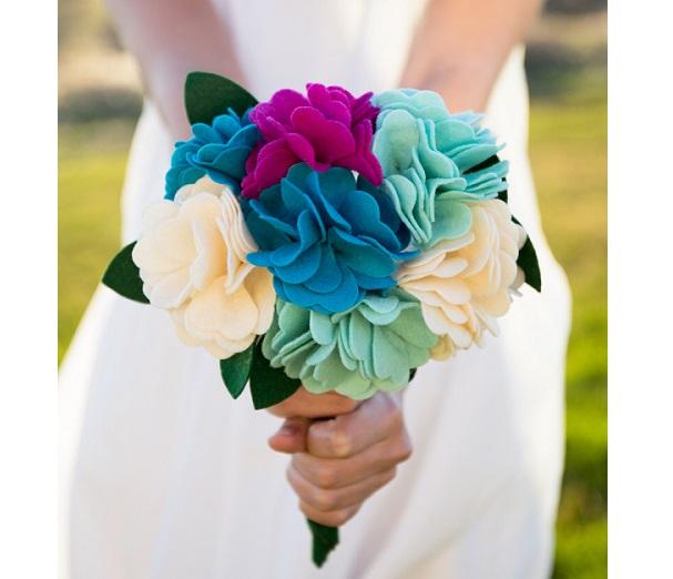 Tutorial: Felt flower bouquet