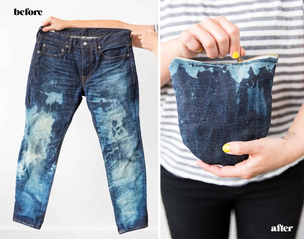 Tutorial: Easy upcycled jeans clutch