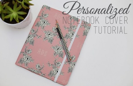 Tutorial: Personalized notebook cover with inside pockets