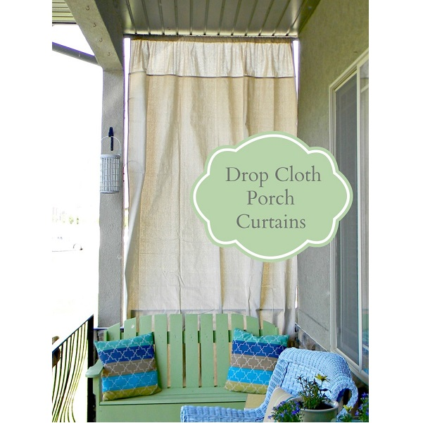 Tutorial: Drop cloth curtains for your porch