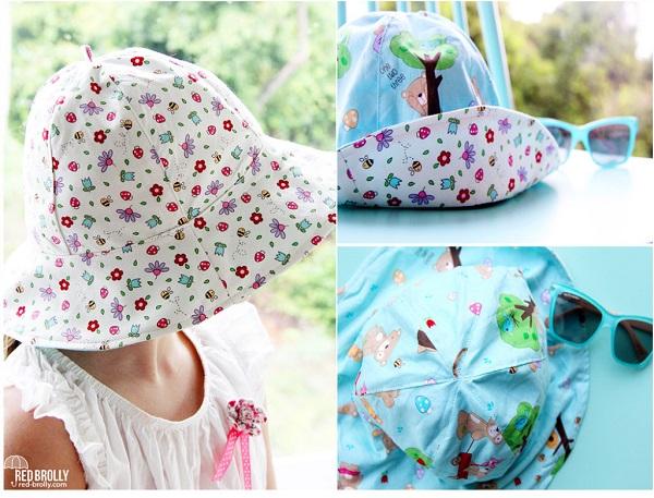 Free pattern: Reversible School Yard Sun Hat