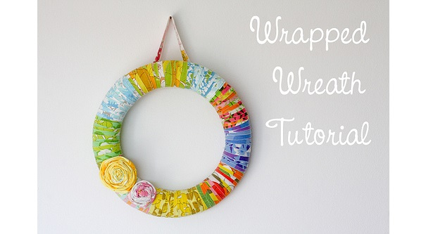 Tutorial: Vintage sheet wrapped wreath tutorial