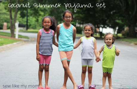 Free pattern: Coconut Summer Pajama Set for kids