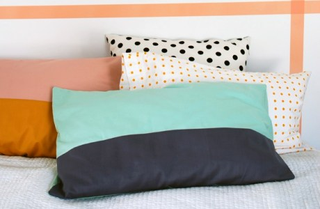 Tutorial: Easy color blocked pillowcases
