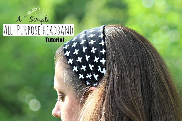 Tutorial: Simple all-purpose fabric headband
