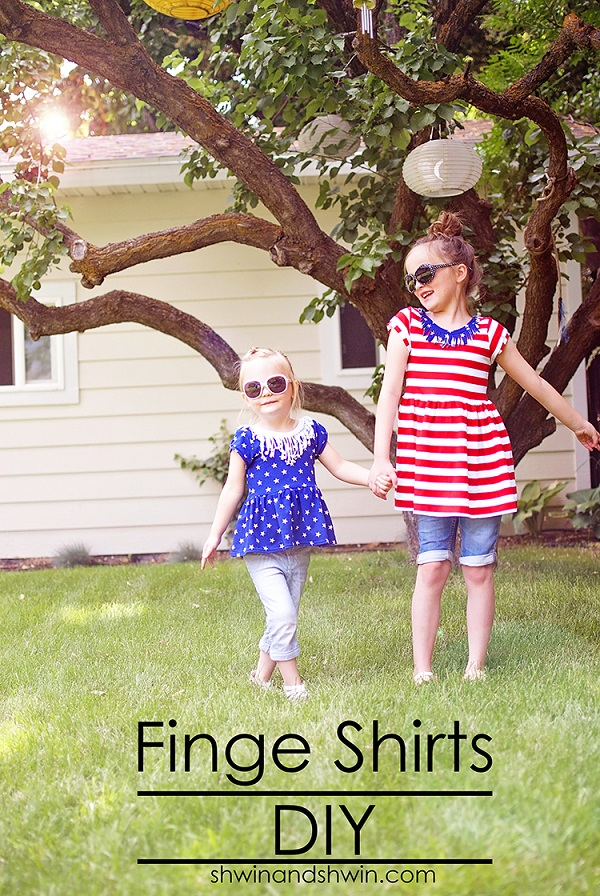 Tutorial: Easy fringe neck detail for t-shirts and dresses