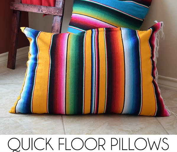 Floor Pillows Big Lots : Tutorial: Mexican blanket floor pillows ? Sewing
