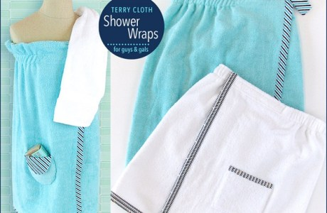 Tutorial: Terry cloth shower wraps