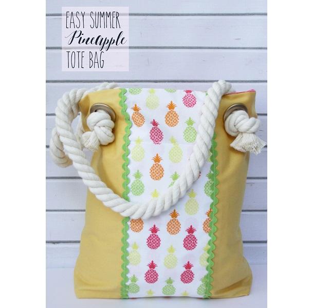 Tutorial: Easy rope handle tote bag