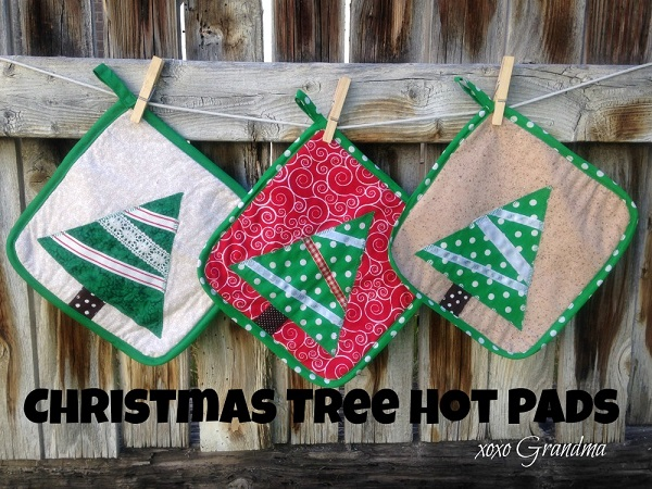 Tutorial: Christmas tree hot pads