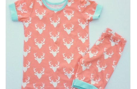 Free pattern: Short sleeve summer pajamas for older kids