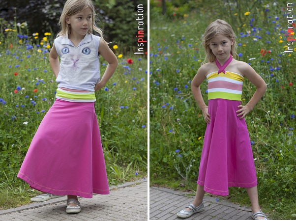 Tutorial: Convertible maxi skirt and halter dress