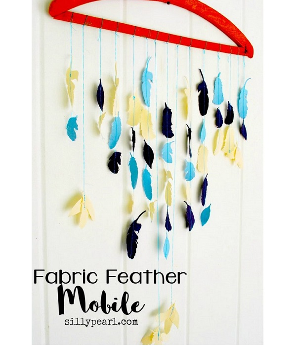 Tutorial Felt or fabric feather mobile