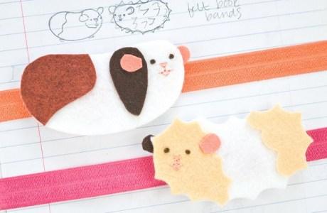 Free pattern: Felt guinea pig book bands