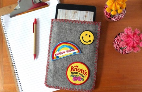 Tutorial: Vintage camp blanket iPad sleeve