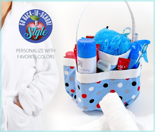 Free pattern: 6-pocket bath caddy for college students