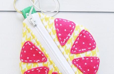 Tutorial: Citrus earbud zipper pouch