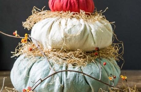 Tutorial: Heirloom Cinderella fabric pumpkins