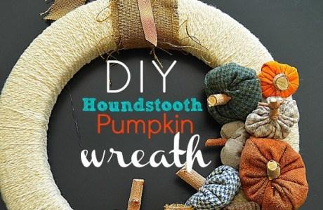 Tutorial: Houndstooth pumpkin fall wreath