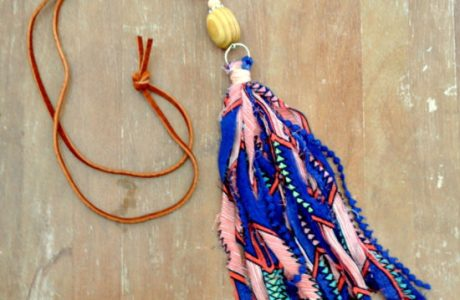Tutorial: Fabric tassel necklaces