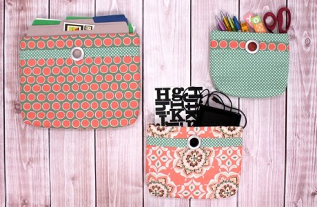 Tutorial: Wall pocket organizers in 3 sizes