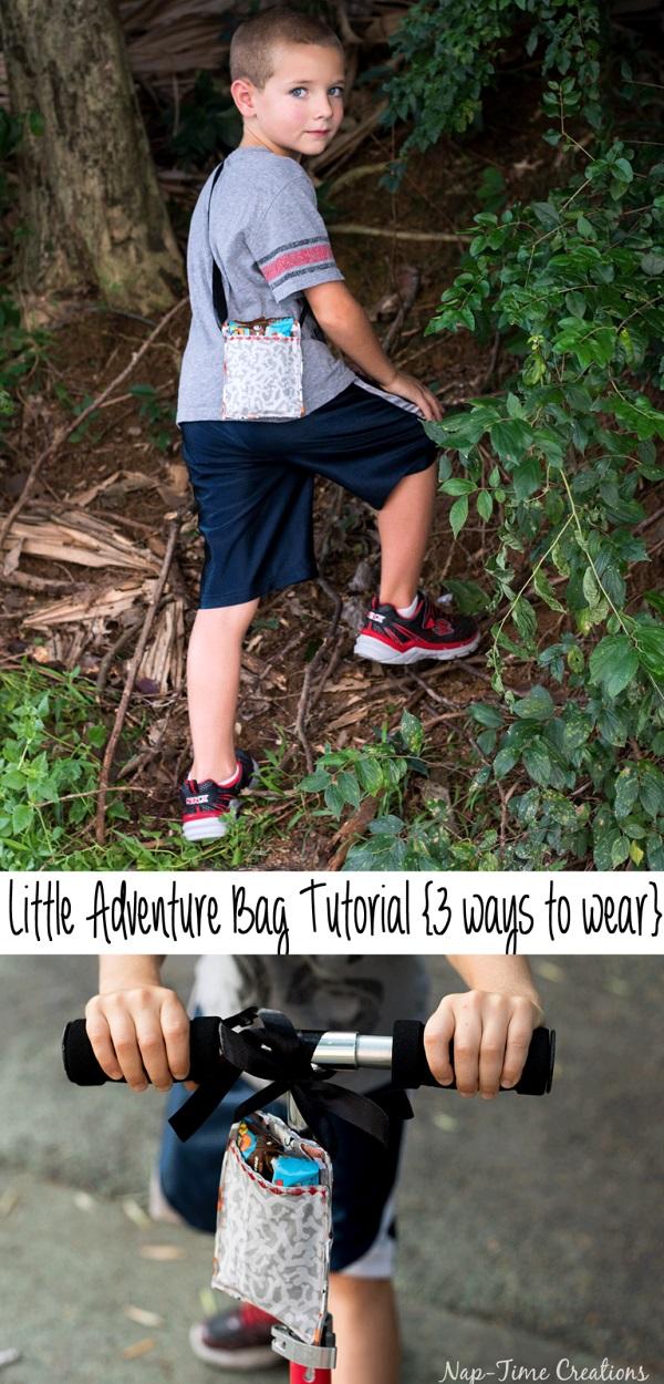 Tutorial: Kids adventure bag that can be worn 3 ways