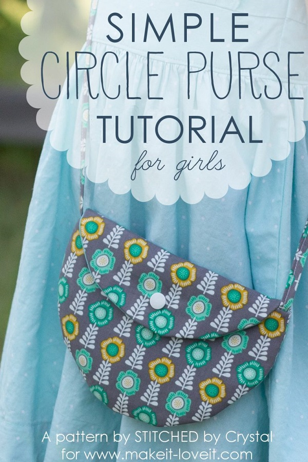 Tutorial: Little girl's circle purse