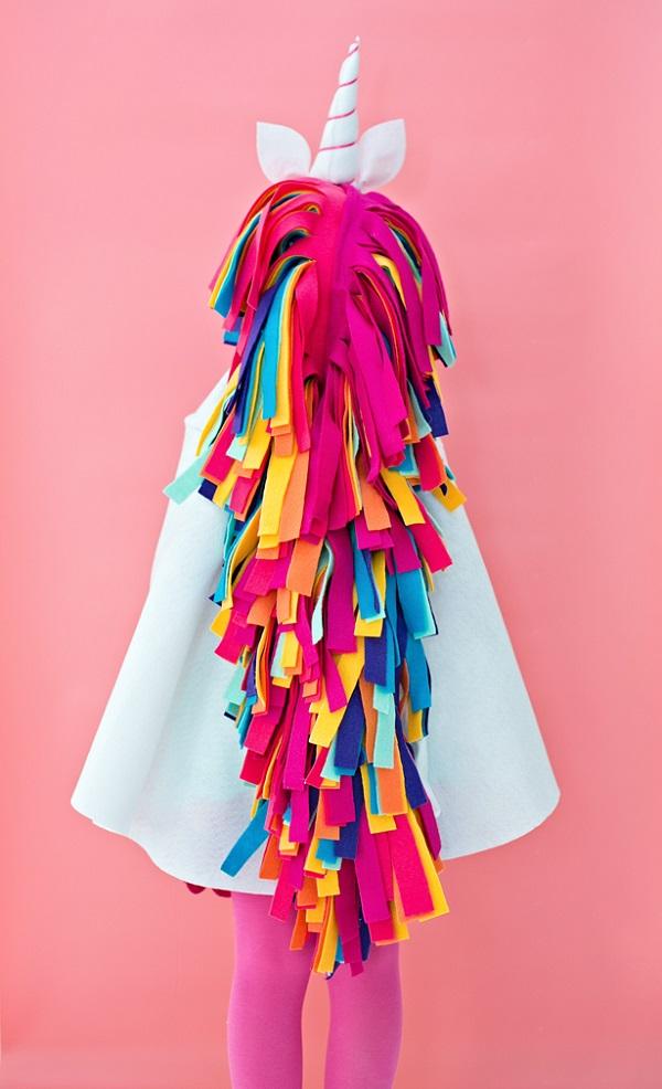Tutorial: No-sew rainbow unicorn costume – Sewing