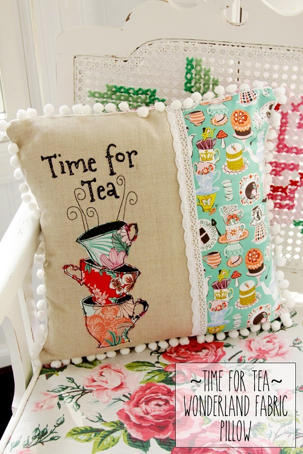 Free pattern: Time for Tea pillow