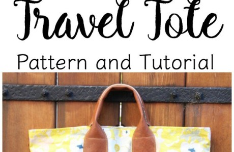 Tutorial: Expandable travel tote bag