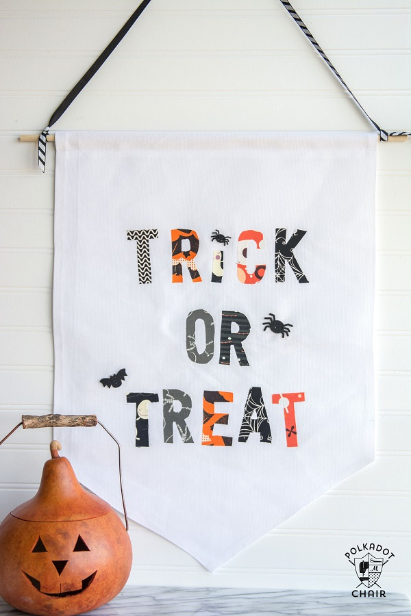 Tutorial: Easy Halloween trick or treat banner